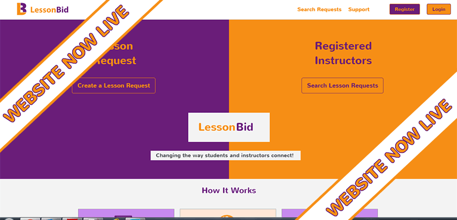 LessonBid Live and Ready to Help Connect Students and Instructors